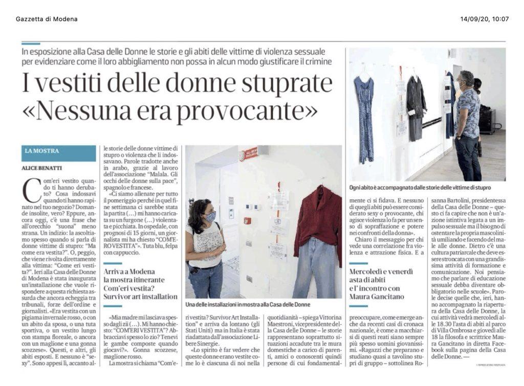 Gazzetta di Modena_Com'eri vestita