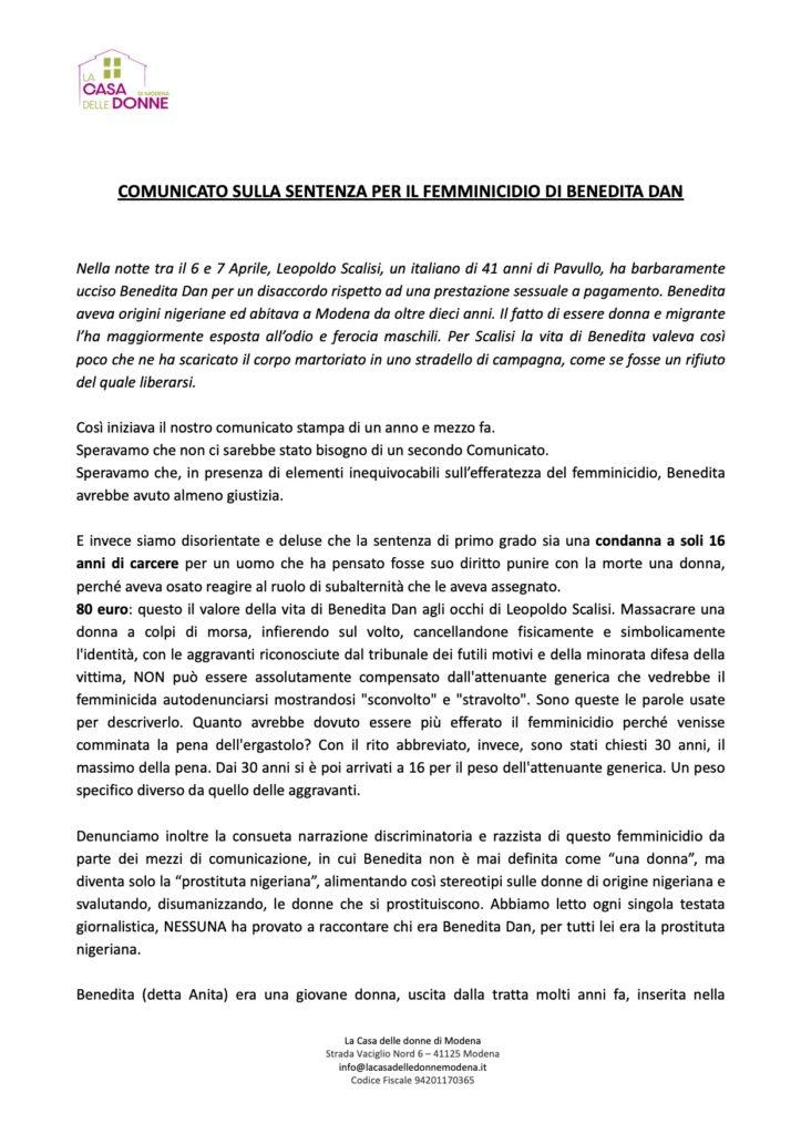 Comunicato stampa_BeneditaDan_CasadelleDonnediModena_1